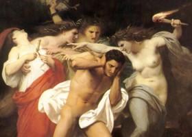 """Orestes perseguido por las Furias""  William-Adolphe Bouguereau 1862"